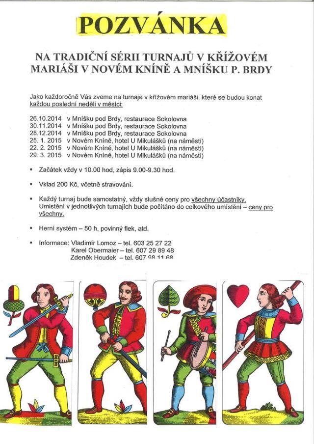 Turnaje v křížovém mariáši